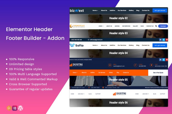 Thumbnail for Elementor Header Footer Builder - Addon