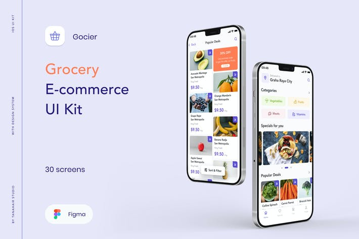 Gocier - Grocery E-commerce UI Kit