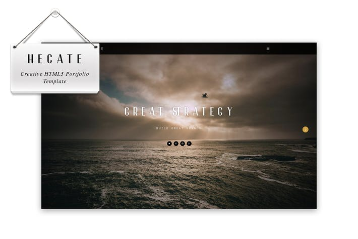 Thumbnail for Hecate - Creative HTML5 Portfolio Template