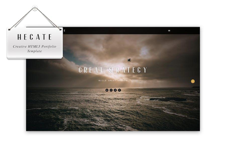 Hecate - Creative HTML5 Portfolio Template