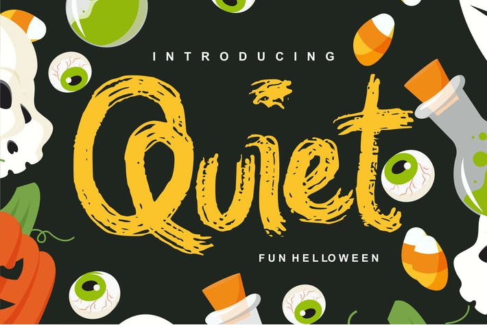 Thumbnail for Quiet | Magical Helloween Font