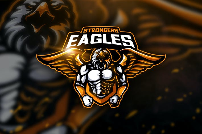 Cover Image For Eagles Strongers - Mascot & Esport Logo