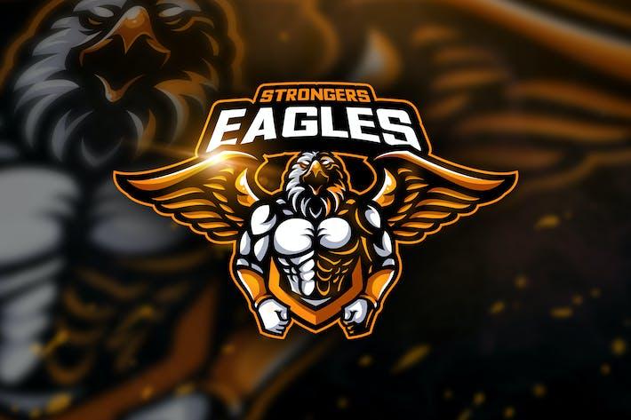Thumbnail for Eagles Strongers - Mascot & Esport Logo