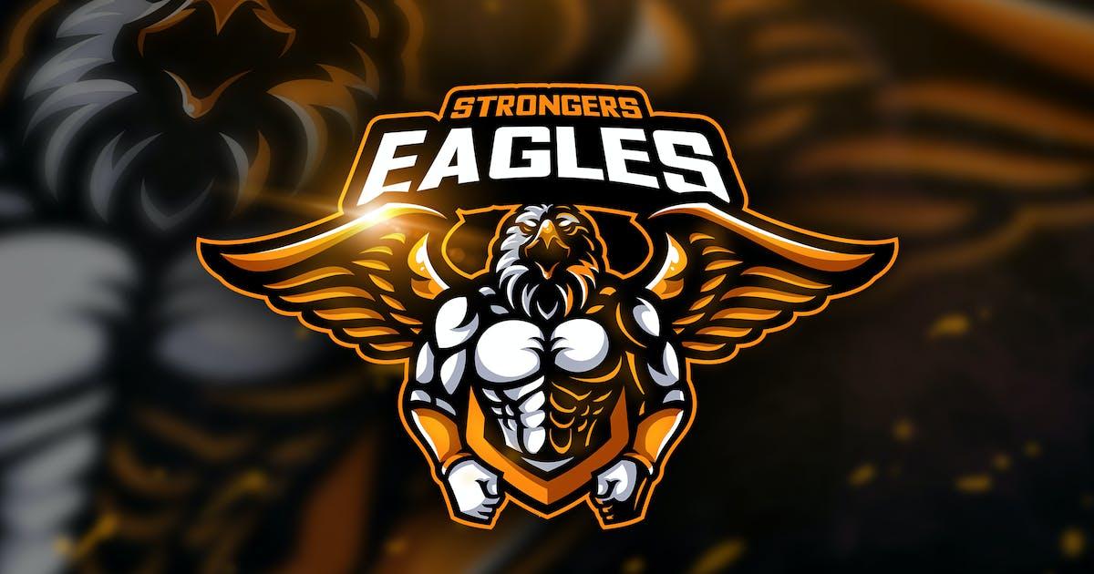 Download Eagles Strongers - Mascot & Esport Logo by aqrstudio