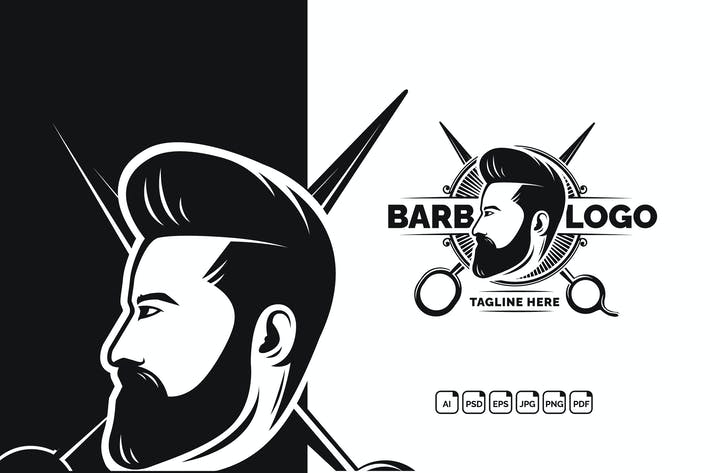 Thumbnail for Barbershop Modern Logo Design