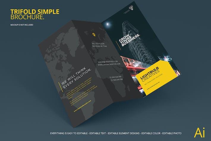 Thumbnail for Creative Studio Tri-fold Brochure