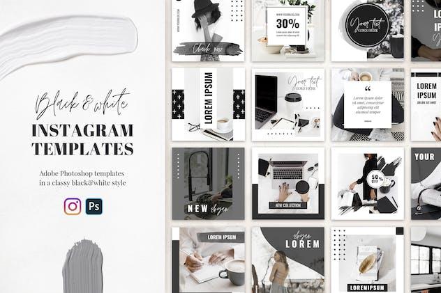 Instagram Templates in Black&White