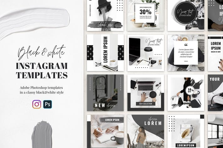 Instagram Templates in Black&White