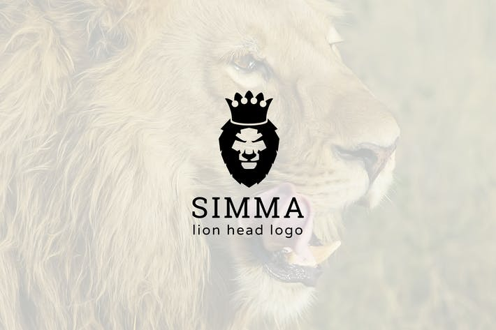 Thumbnail for Simma : Negative Space Lion Head Logo
