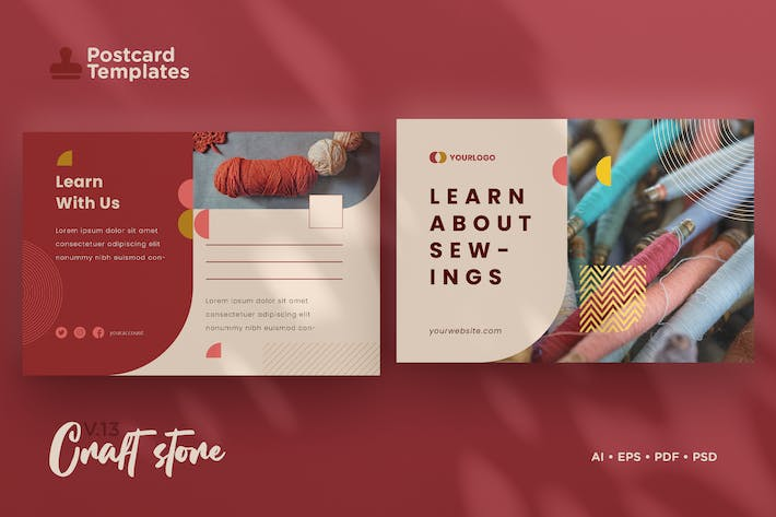 Thumbnail for Postcard Template Vol.13 Craft Store