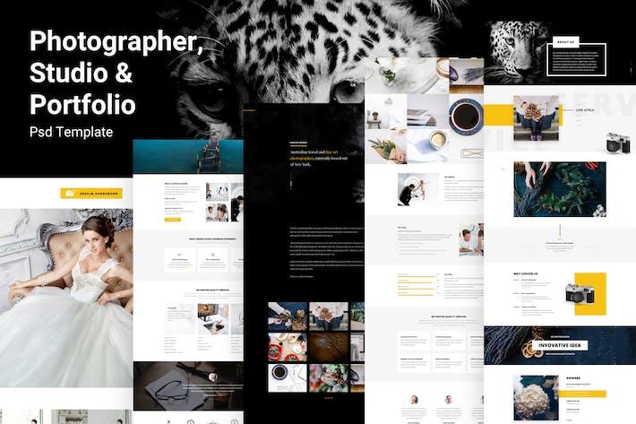 Thumbnail for Enima - Photographer, Studio & Portfolio PSD