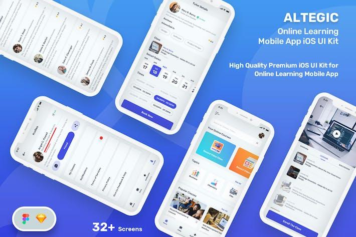 Altegic - Online Learning Mobile App UI