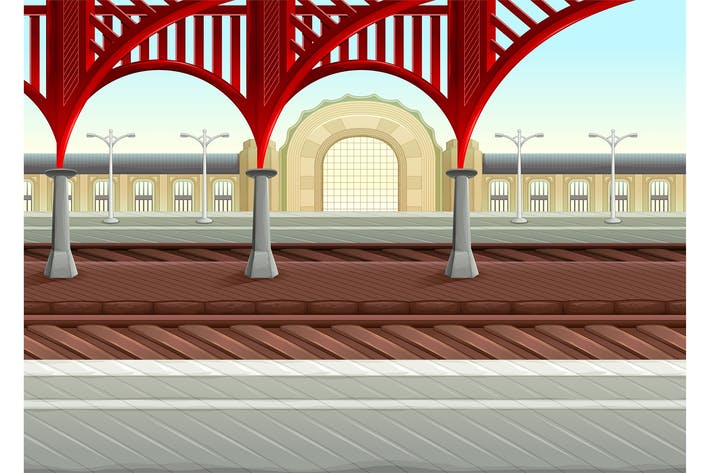 Thumbnail for View on Railways in the Train Station