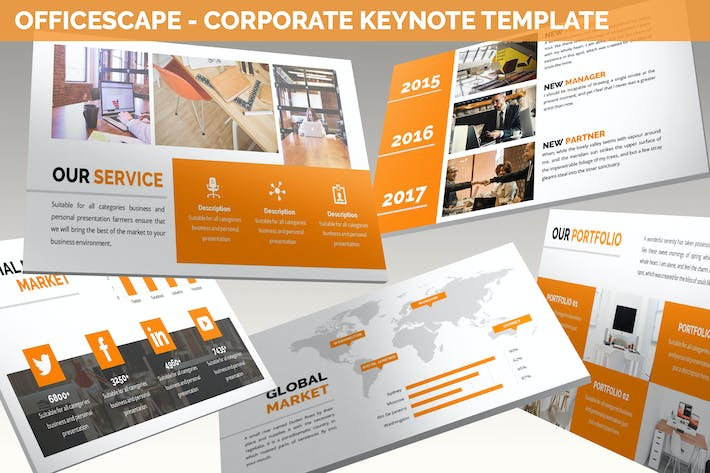 Thumbnail for Officescape - Corporate Keynote Template