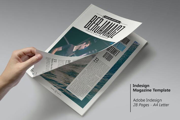 Cover Image For Berjamagz - InDesign Magazine Template