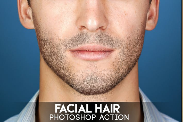 Cover Image For Acción de Photoshop para cabello facial