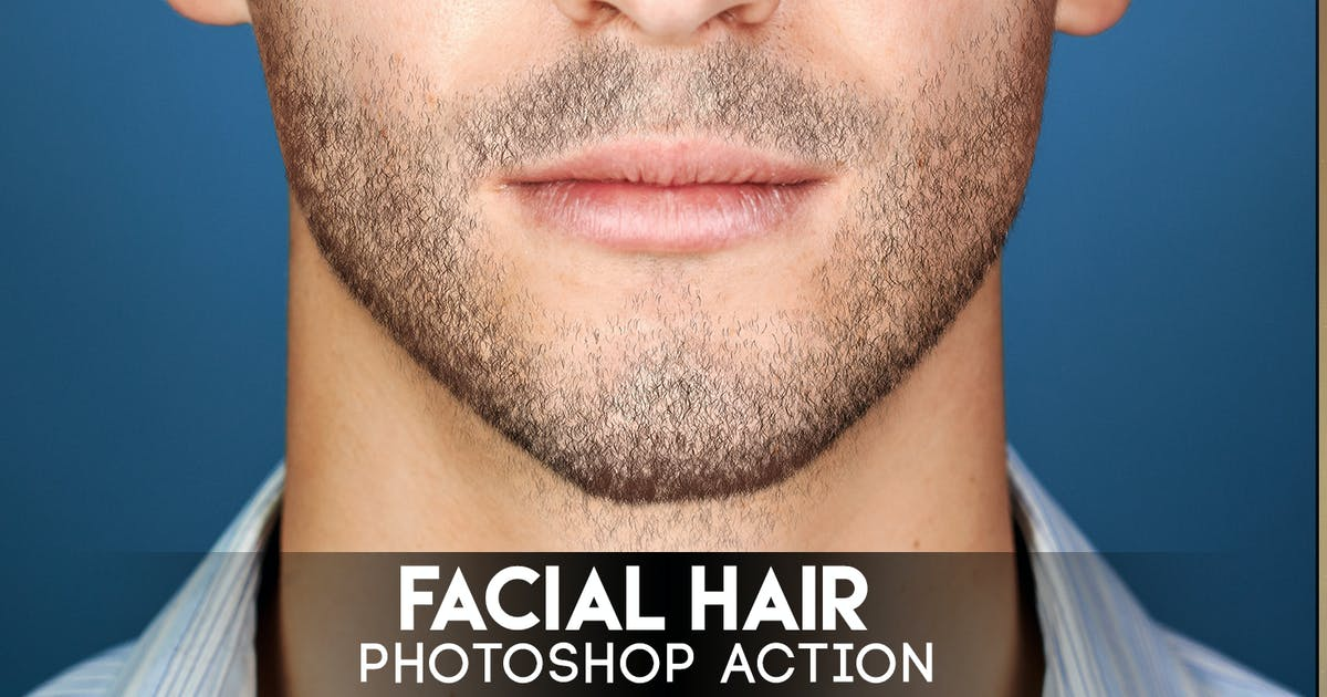 Facial Hair Photoshop Action by Eugene-design on Envato Elements