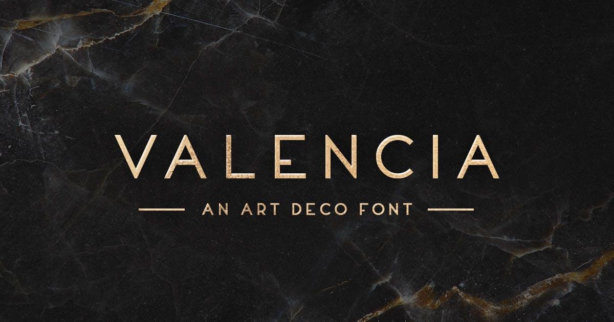 Download Valencia Typeface by MehmetRehaTugcu
