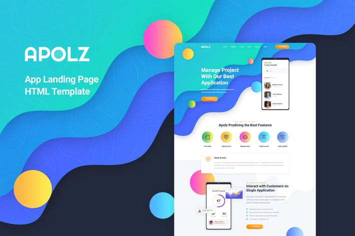 Thumbnail for Apolz - App Landing Page HTML Template