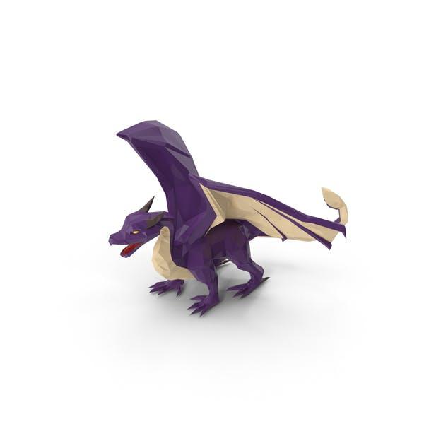 Low Poly Purple Dragon