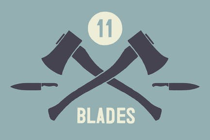 Hand Illustrated Blades & Knives