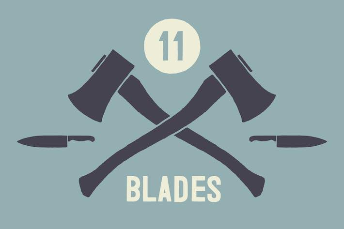 Thumbnail for Cuchillas y cuchillos ilustrados a Mano