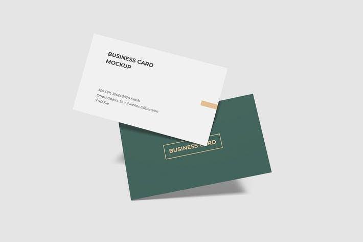 Thumbnail for Flying Business Card Mockup