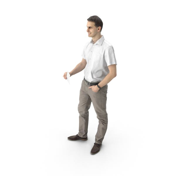 Thumbnail for Man Standing with Note
