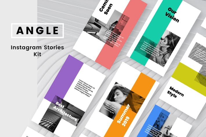 Thumbnail for Angle Instagram Stories Kit