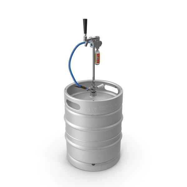 Beer Keg 50L with Leland CO2 Picnic Tap