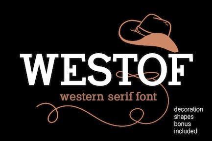 Westof  western serif font