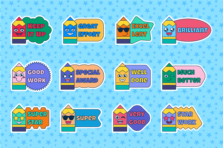 Thumbnail for Preschool Reward Motivational Stickers Set