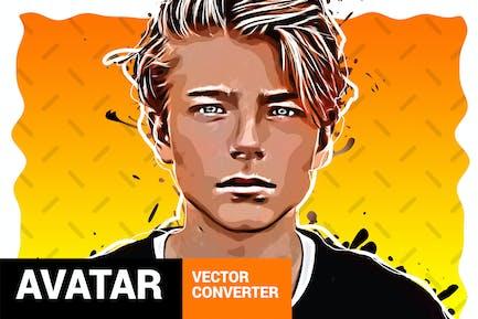 Convertidor de Vector - Avatar - Plugin de Photoshop