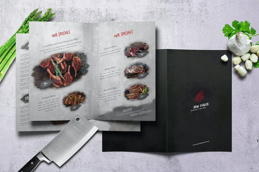 New Yorker Bifold A4 & US Letter Food Menu