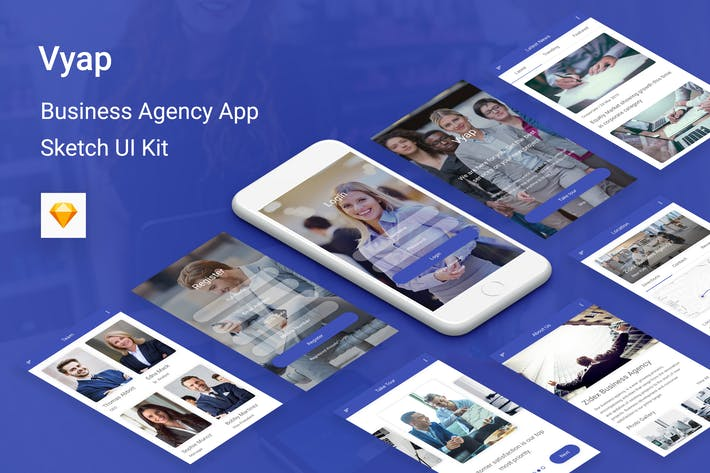 Cover Image For Vyap - Business Agency UI Kit for Sketch