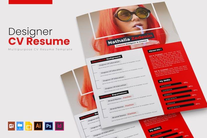 Thumbnail for Designer | CV & Resume