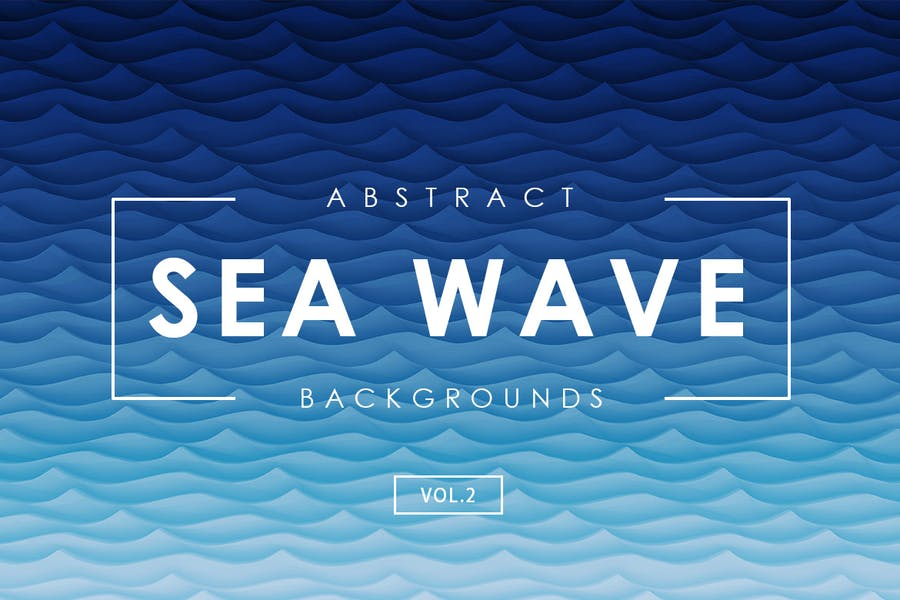 Sea Wave Abstract Backgrounds Vol.2