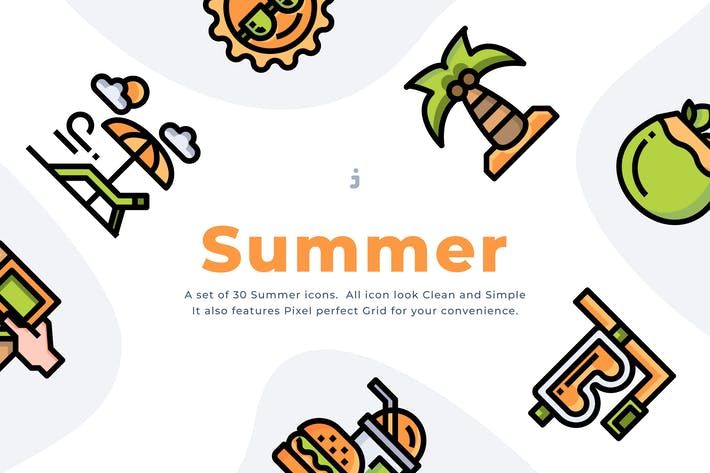 Thumbnail for 30 Sommerzeit-Symbol Set
