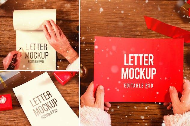 Santa Claus Letter Mockup Set