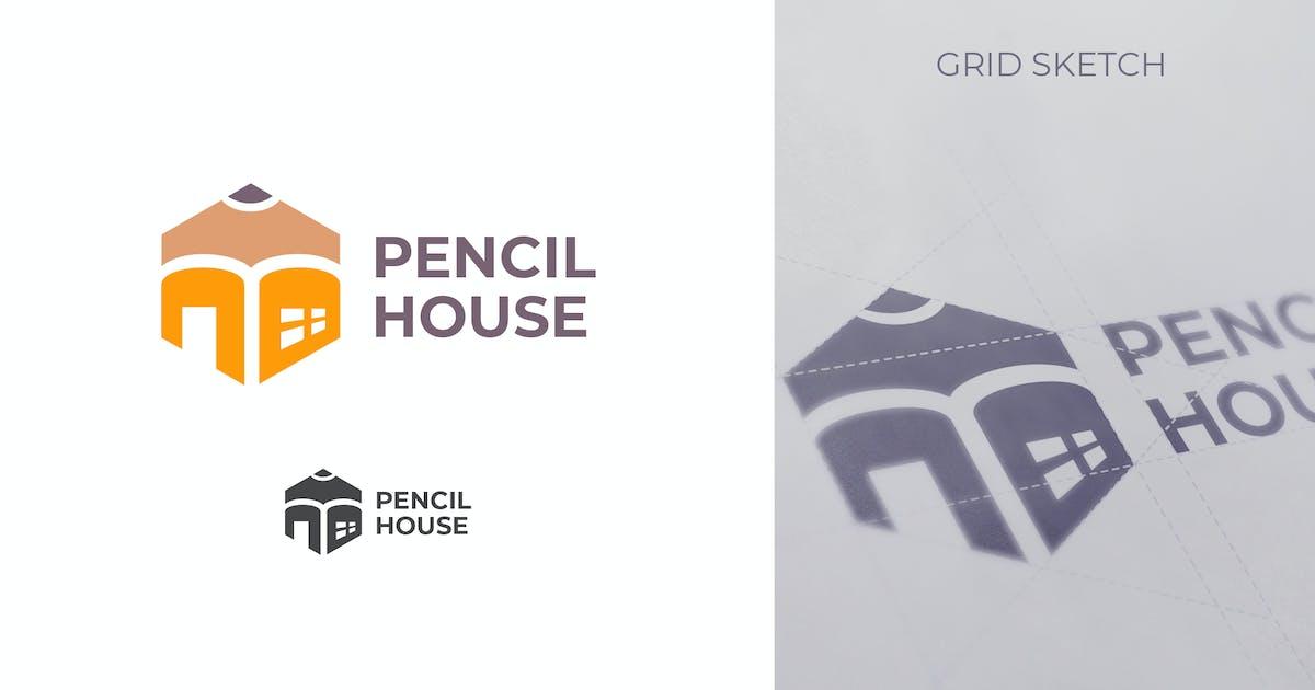 Download Geometric Hexagon Pencil & House Logo by Suhandi