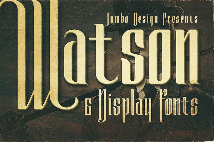 Cover Image For Watson - Vintage Display Font