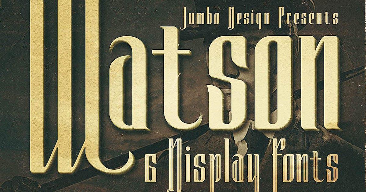 Download Watson - Vintage Display Font by cruzine