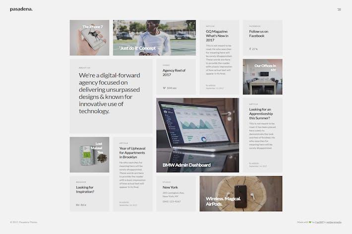 Thumbnail for Pasadena - Contemporary Portfolio WordPress Theme
