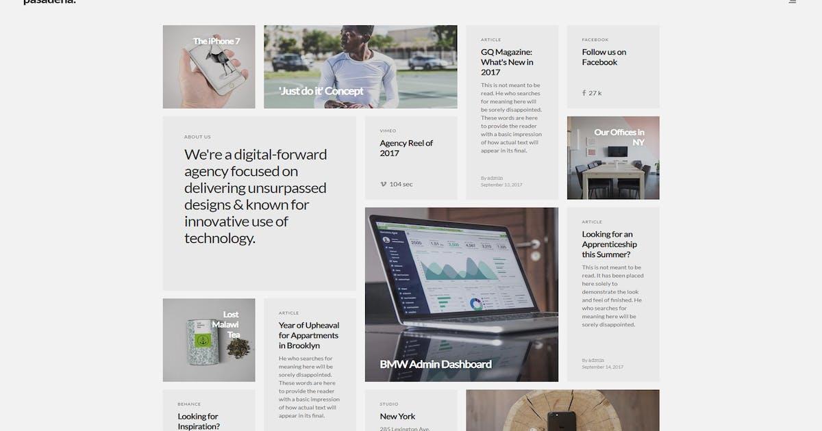 Download Pasadena - Contemporary Portfolio WordPress Theme by FastWP
