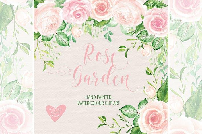 Thumbnail for Watercolor Rose Garden clipart