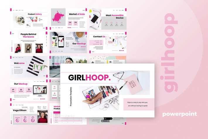 Cover Image For Girl Hoop - Powerpoint Presentation