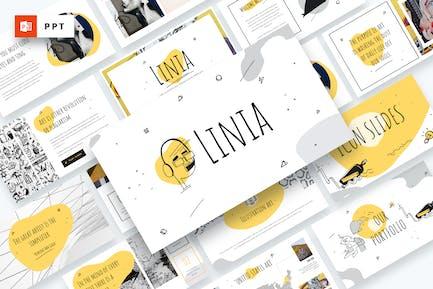 LINIA - Plantilla de Powerpoint Ilustración de Línea