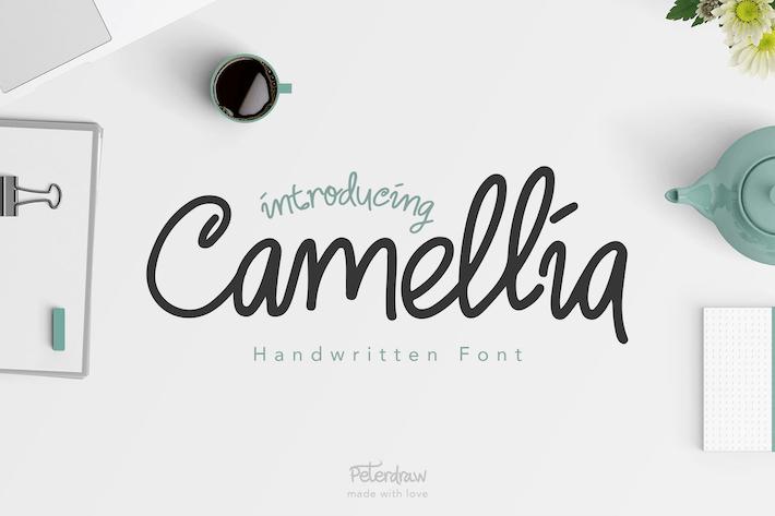 Thumbnail for Police manuscrite Camellia