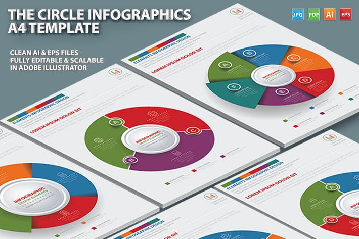 Cover Image For The Circle Infographic Design