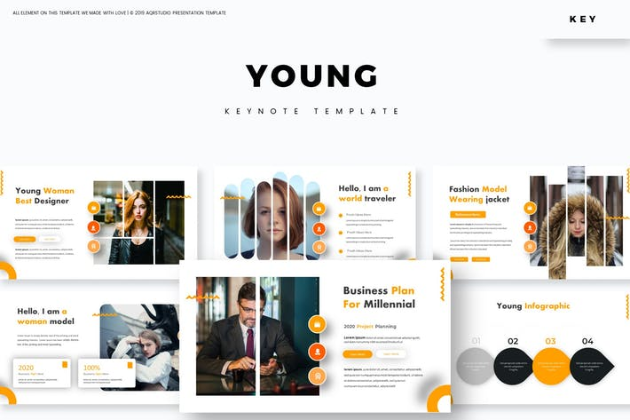 Thumbnail for Young - Keynote Template